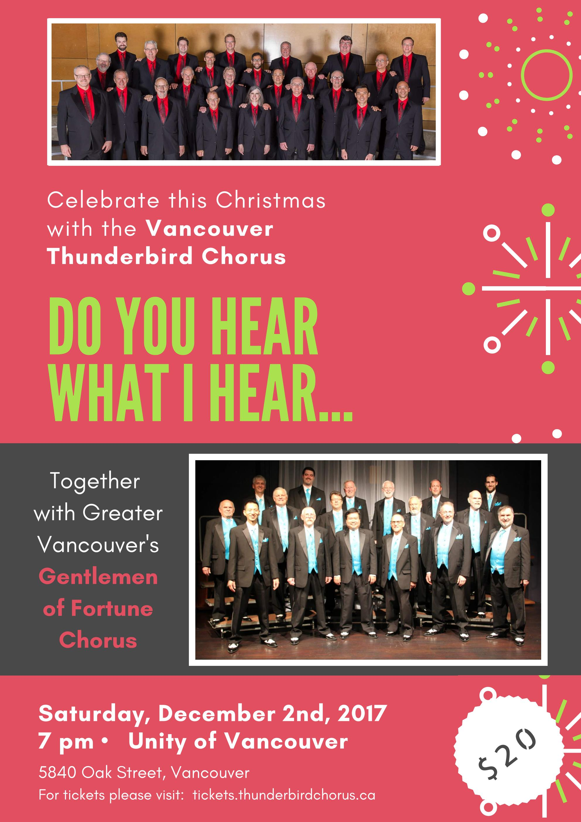 Christmas Show: Do You Hear What I Hear @ Unity of Vancouver