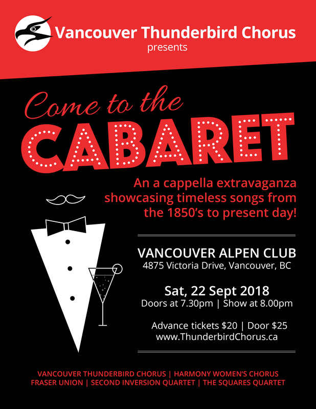 "Vancouver Thunderbird Chorus: ""Come to the Cabaret"" @ Vancouver Alpen Club (Vancouver, BC)"