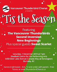 Vancouver Thunderbirds Show:  'Tis the Season @ Shadbolt Centre (Burnaby, BC)